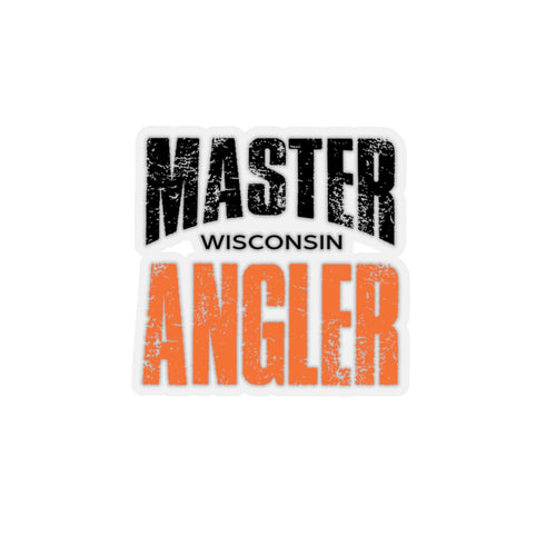 Wisconsin Master Angler Sticker - ORANGE