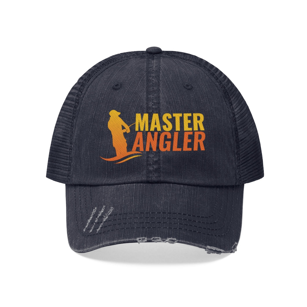 Master Angler Unisex Trucker Hat - Orange Logo