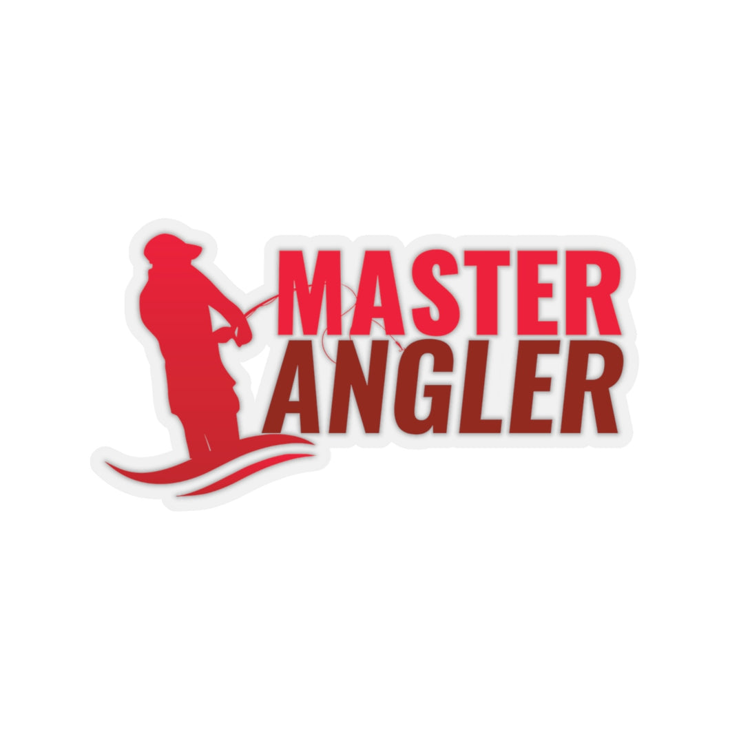 Master Angler Sticker - Red