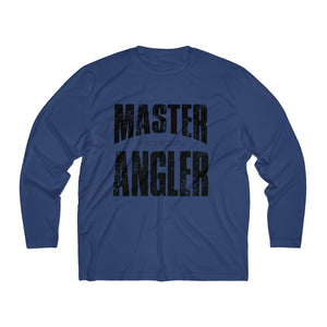 Michigan Master Angler Men's Long Sleeve Moisture Absorbing Tee - Black