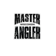 Load image into Gallery viewer, Wisconsin Master Angler Sticker - BLACK