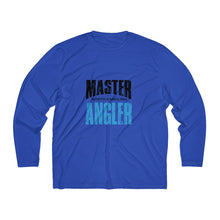 Load image into Gallery viewer, North Carolina Master Angler Men's Long Sleeve Moisture Absorbing Tee - Blue Sqr