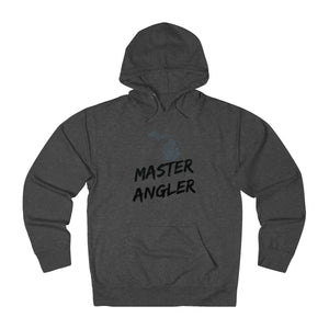 Michigan Master Angler Unisex Terry Hoodie Black Logo