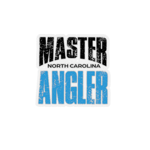 North Carolina Master Angler Sticker - BLUE