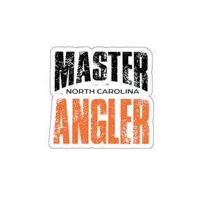 North Carolina Master Angler Sticker - ORANGE