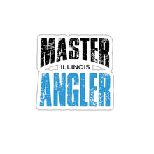 Load image into Gallery viewer, Illinois Master Angler Sticker - BLUE