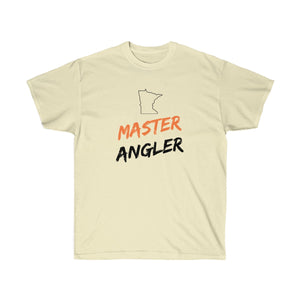 Minnesota Master Angler Unisex Ultra Cotton Tee Orange Logo