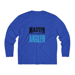 South Carolina Master Angler Men's Long Sleeve Moisture Absorbing Tee - Blue Sqr