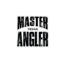 Load image into Gallery viewer, Texas Master Angler Sticker - BLACK