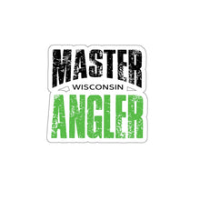 Load image into Gallery viewer, Wisconsin Master Angler Sticker - GREEN