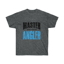 Load image into Gallery viewer, Wisconsin Master Angler Unisex Ultra Cotton Tee Blue Logo