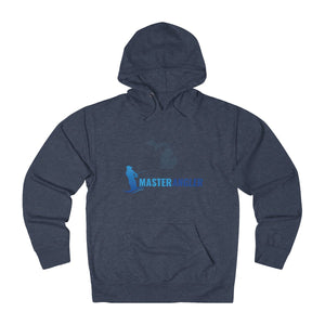 Michigan Master Angler Unisex Terry Hoodie Blue Long Logo
