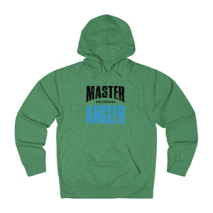 Michigan Master Angler Unisex Terry Hoodie Blue Sq