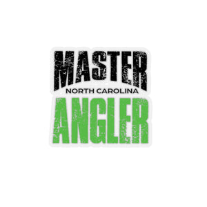 North Carolina Master Angler Sticker - GREEN