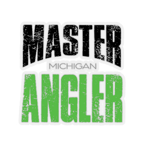 Michigan Master Angler Square Sticker - Green