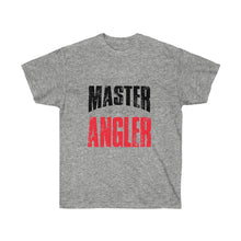 Load image into Gallery viewer, Michigan Master Angler Unisex Ultra Cotton Tee Red Logo