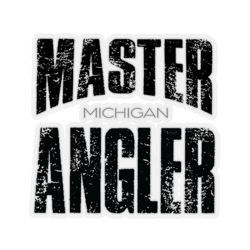 Michigan Master Angler Square Sticker - Black