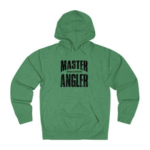 Load image into Gallery viewer, Wisconsin Master Angler Unisex Terry Hoodie Black Sq