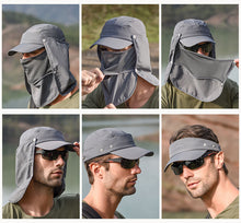Load image into Gallery viewer, Outdoor Sport Visor Breathable Hat UV Protection Face Neck Cover Fishing Sun Protect Cap Flap Hat Wide Brim
