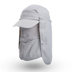 Outdoor Sport Visor Breathable Hat UV Protection Face Neck Cover Fishing Sun Protect Cap Flap Hat Wide Brim