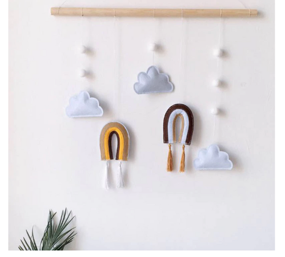 Cloud & Rainbow Wall Hanging