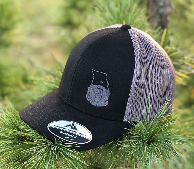 Bearded Missouri Trucker Hat-Black/Graphite