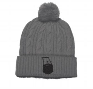 Bearded Missouri Cable Knit Beanie (3 color options)