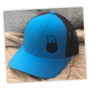 Bearded Missouri Trucker Hat-Panther Teal/Black