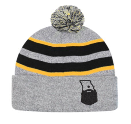 Bearded Missouri Black/Heather/Gold Beanie