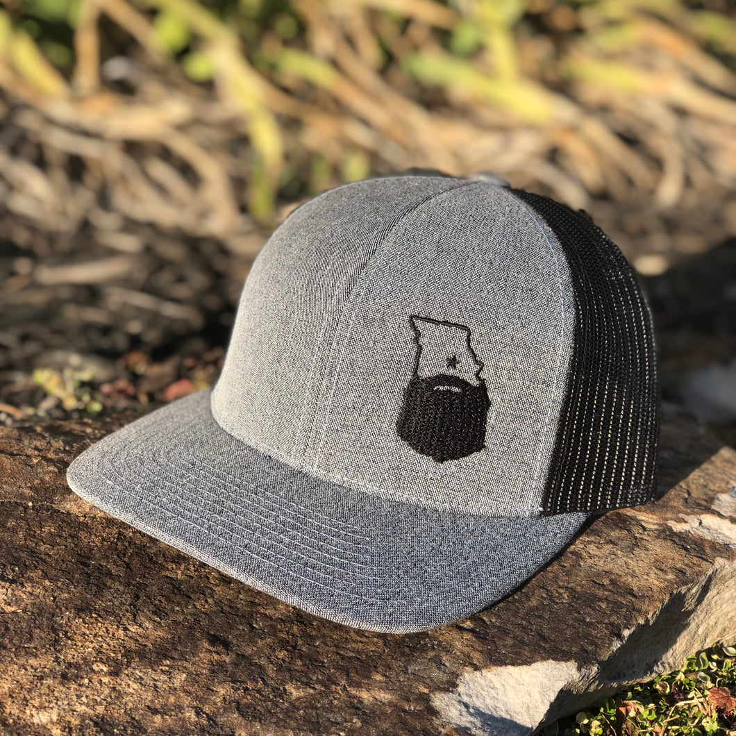 Bearded Missouri Trucker Hat-Heather Gray/Black