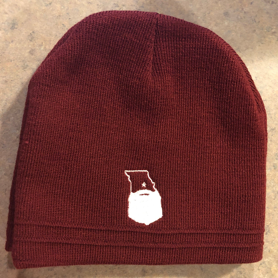 Bearded MO Knit Beanie (3 color options)