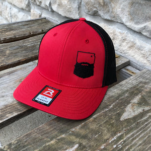 Bearded Kansas Flexfit-Heather Red/Black