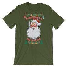 Load image into Gallery viewer, Ugly Bearded Christmas Short Sleeve Unisex T-Shirt