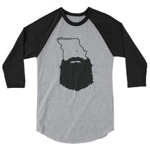 Load image into Gallery viewer, Bearded Missouri 3/4 Sleeve Raglan Shirt