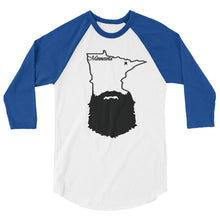 Load image into Gallery viewer, Bearded Minnesota 3/4 Sleeve Raglan Shirt