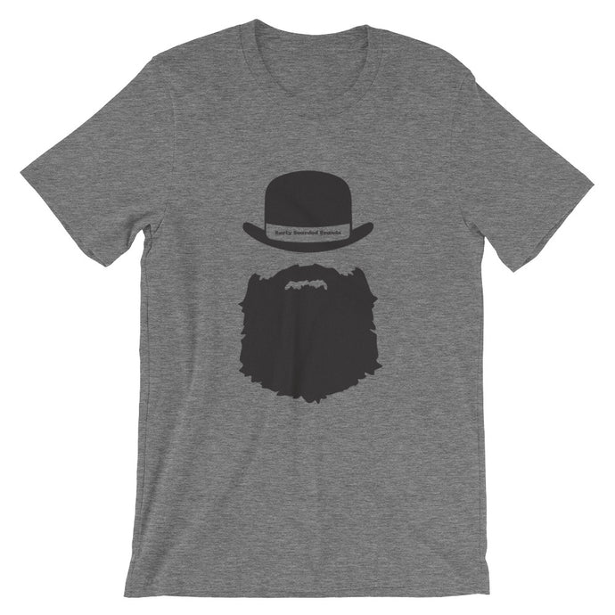 Top Hat Burly Bearded Short-Sleeve Unisex T-Shirt