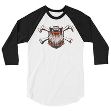 Load image into Gallery viewer, Bearded Halloween 3/4 Sleeve Raglan Shirt
