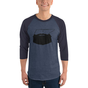 Tennessee Bearded 3/4 Sleeve Raglan Shirt