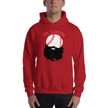 Load image into Gallery viewer, St. Louis Bearded Baseball Hoodie