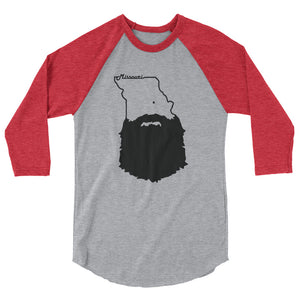 Bearded Missouri 3/4 Sleeve Raglan Shirt