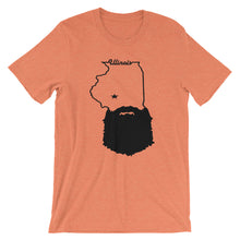 Load image into Gallery viewer, Bearded Illinois Short Sleeve Unisex T-Shirt
