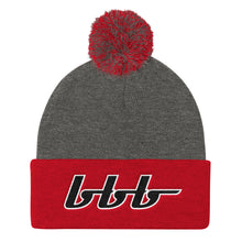 Load image into Gallery viewer, bbb Logo Pom Pom Knit Cap