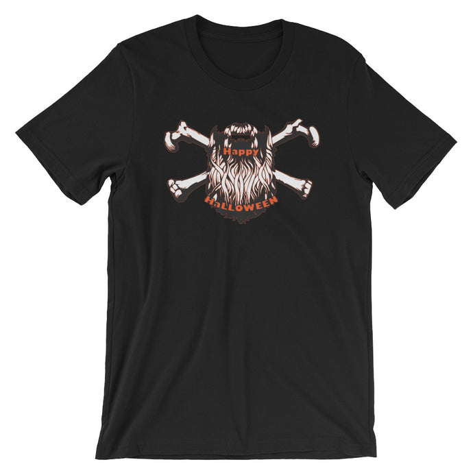 Bearded Halloween Short Sleeve Unisex T-Shirt