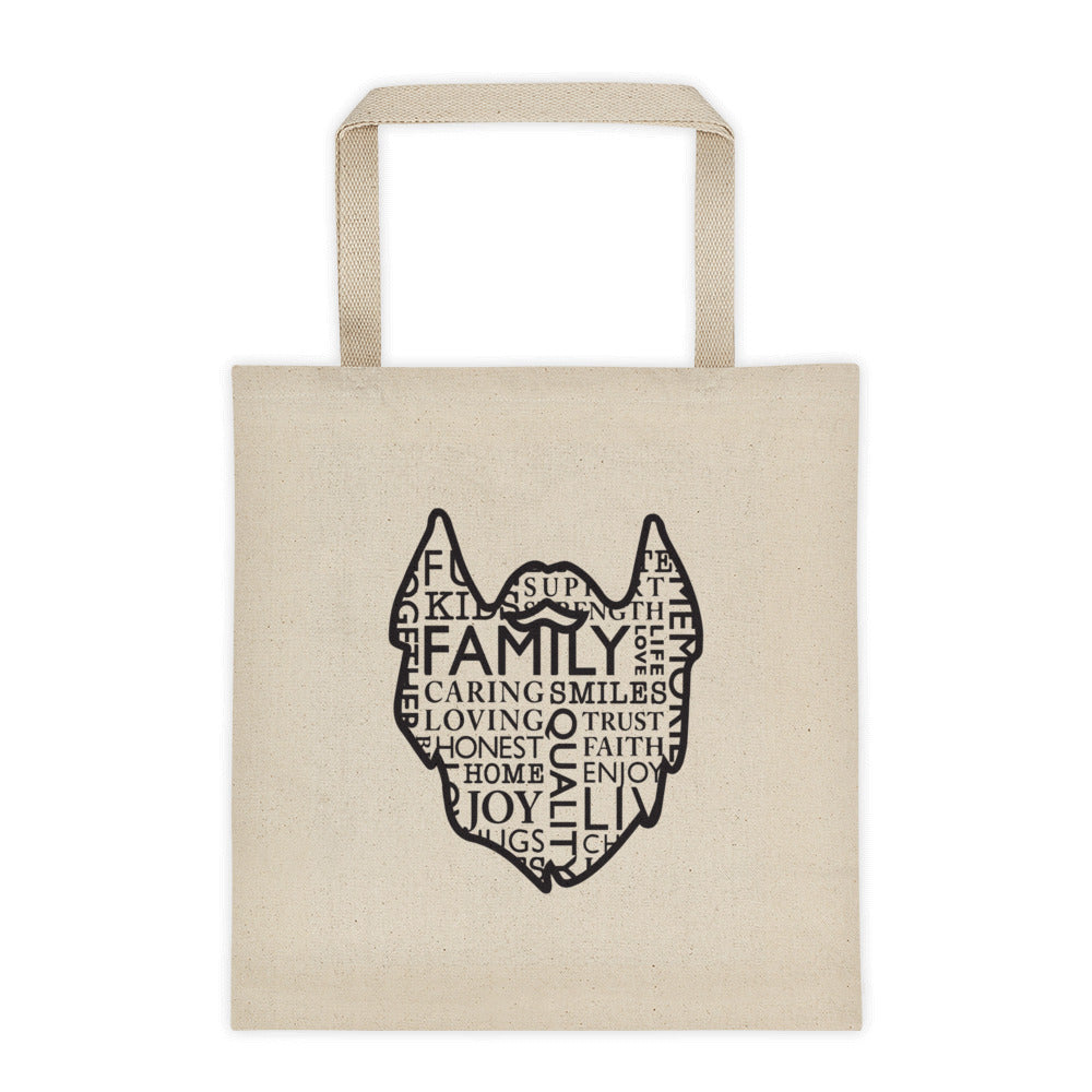 The Family Beard Collage Tote