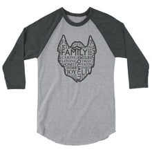Load image into Gallery viewer, The Family Beard Collage 3/4 Sleeve Raglan Shirt