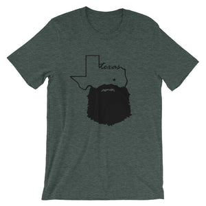 Bearded Texas Short Sleeve Unisex T-Shirt