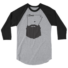 Load image into Gallery viewer, Bearded Arkansas 3/4 Sleeve Raglan Shirt