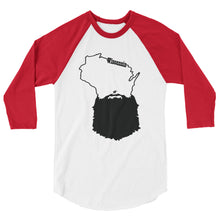 Load image into Gallery viewer, Bearded Wisconsin 3/4 Sleeve Raglan Shirt