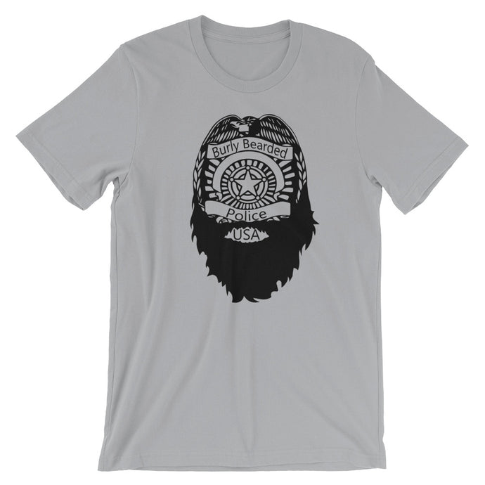 Bearded Police Short Sleeve Unisex T-Shirt