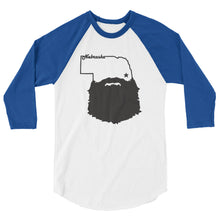 Load image into Gallery viewer, Bearded Nebraska 3/4 Sleeve Raglan Shirt